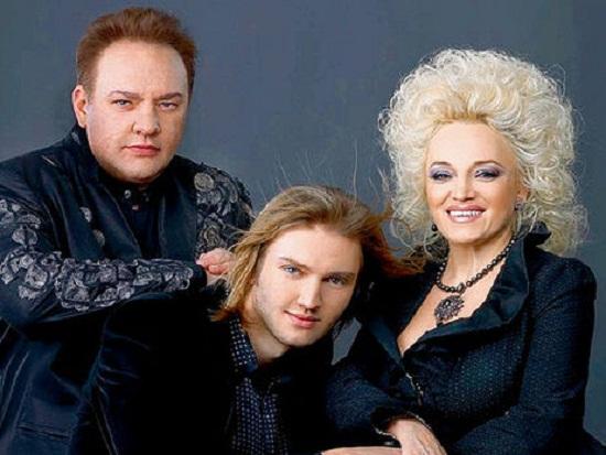 Надежда Кадышева с мужем и сыном