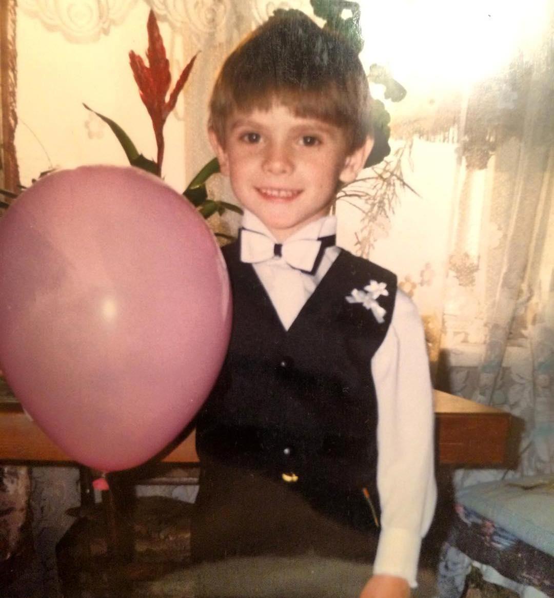 Андрей Борисов в детстве