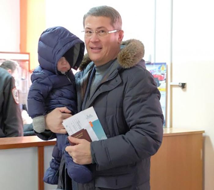 Радий Хабиров с сыном